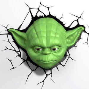 Star Wars Yoda 3D Wall Deco Night Light - Green